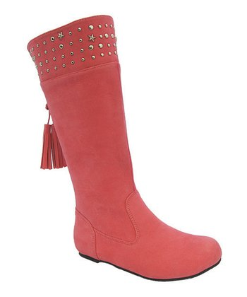 Pink Studded Tania Boot