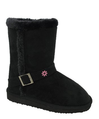 Black Faux Fur Gaia Boot
