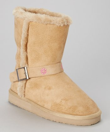 Beige Faux Fur Gaia Boot