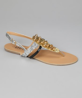 Gold Stud Strappy Sandal