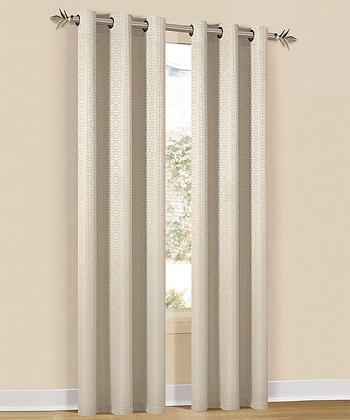 Champagne Hampton Curtain Panel - Set of Two