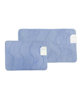 Spa Blue Solenne Memory Foam Rug