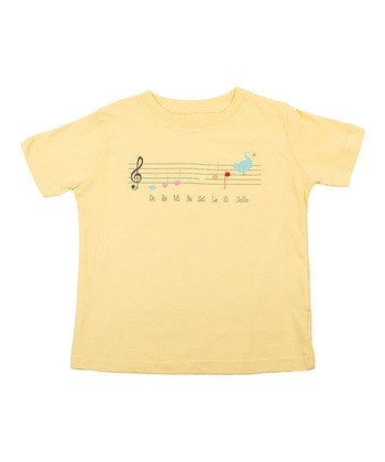 Sun Yellow Music Lesson Tee - Toddler & Kids