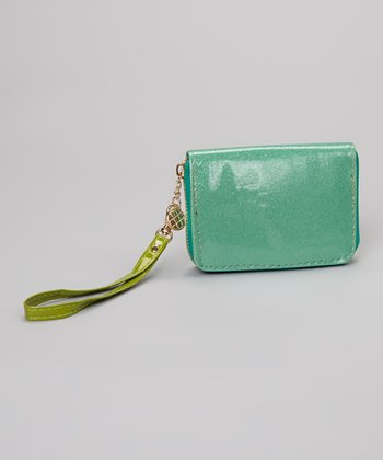Kelly Green Glitter Wristlet
