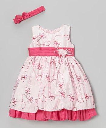 Fuchsia Floral Dress & Headband - Infant & Toddler