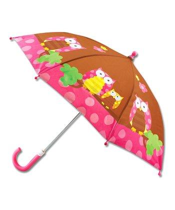 Brown & Pink Owl Umbrella