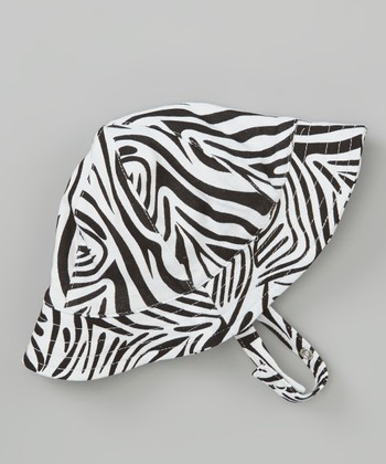 Black & White Zebra Sun Hat