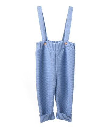 Blue Organic Suspender Pants - Infant
