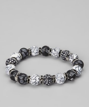 Salt & Pepper Stretch Bracelet
