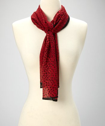Red Peacock Scarf