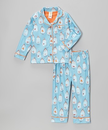Blue Goldfish Pajama Set - Infant