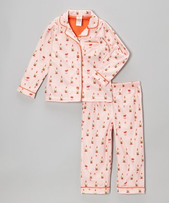Pink Gnome Pajama Set - Infant, Toddler & Girls
