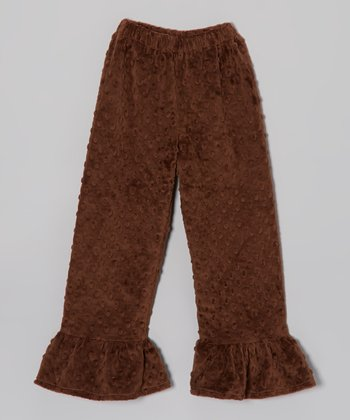 Brown Minky Ruffle Pants - Infant, Toddler & Girls