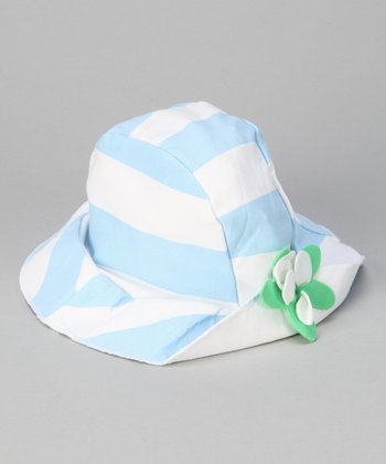 Blue & White Match Point Sunhat