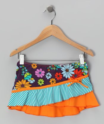 Orange & Purple Paradise Skirt - Toddler