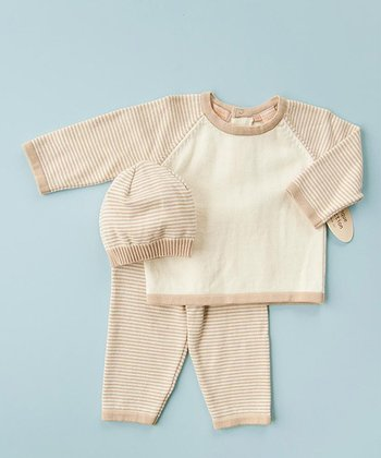 Ivory & Tan Leggings Set - Infant