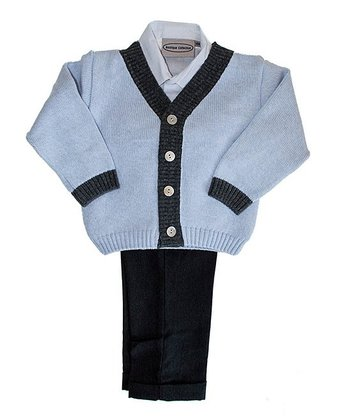 Blue Button Cardigan Set - Infant, Toddler & Boys