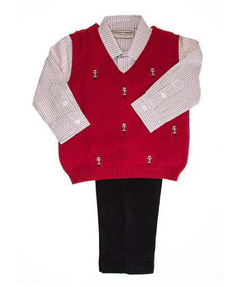 Red Nutcracker Sweater Set - Infant, Toddler & Boys