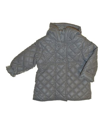 Gray Quilted Hooded Puffer Coat - Infant, Toddler & Boys
