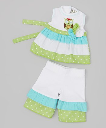 Blue & Green Calla Doll Outfit
