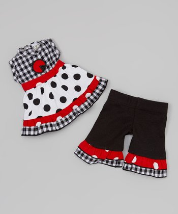 Red & Black Ladybug Doll Outfit