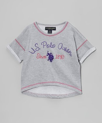 Heather Gray Logo Hi-Low Tee - Infant & Girls