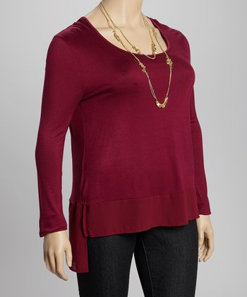 Rose Scoop Neck Top - Plus