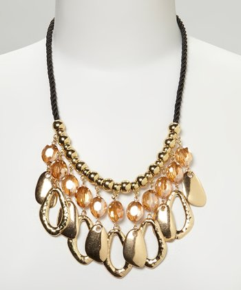 Gold Drop Bead Necklace