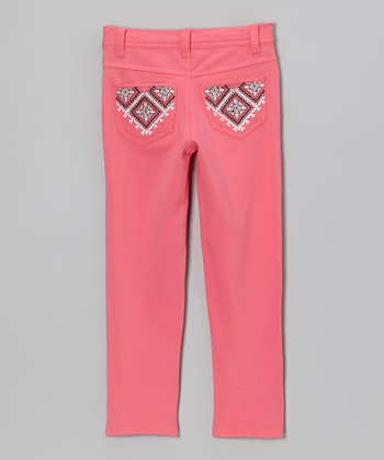 Pink Rhinestone Skinny Jeans - Toddler & Girls
