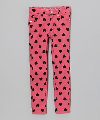 Pink Heart Skinny Jeans - Toddler & Girls
