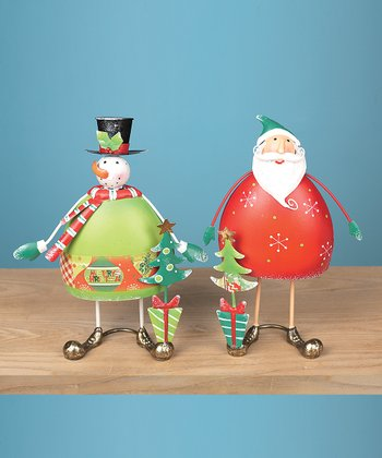 Whimsical Santa & Snowman Décor Set