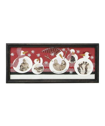Snowmen Scrapbook Framed Décor
