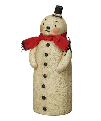 Cozy Scarf Small Snowman Figurine