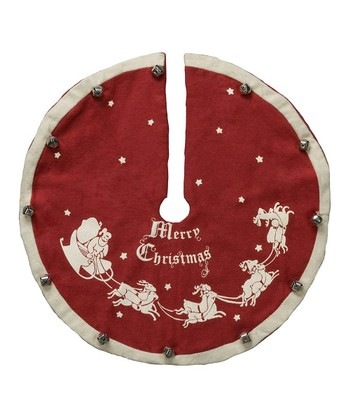 Red 'Merry Christmas' Mini Tree Skirt