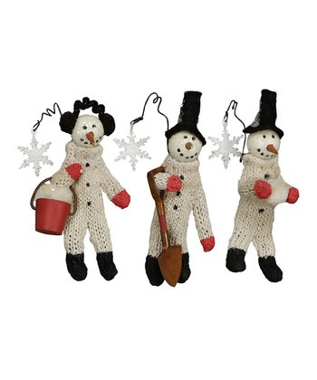 Working Snowmen Ornament Set