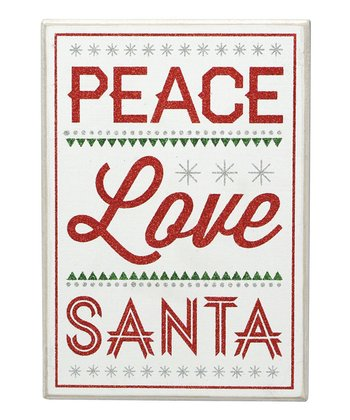 'Love Santa' Box Sign