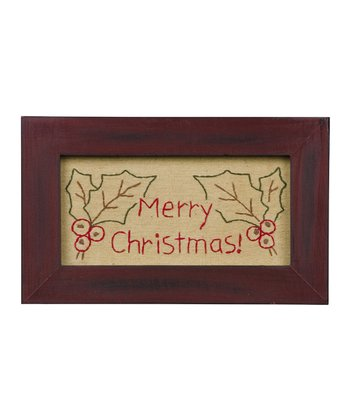 'Merry Christmas' Framed Décor