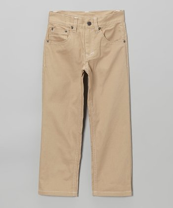 Khaki Twill Pants - Toddler