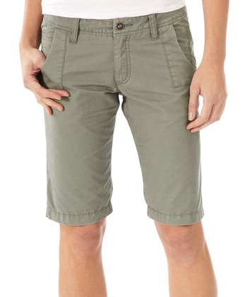 Castor Gray Morse Organic Long Shorts - Women