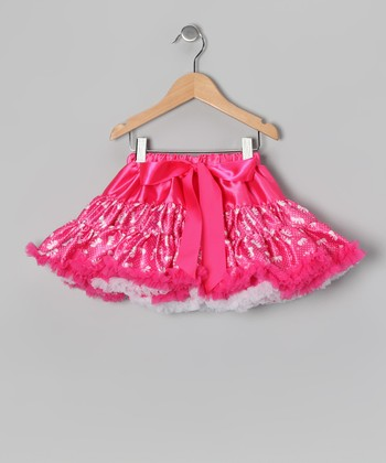 Hot Pink Bow Pettiskirt - Infant, Toddler & Girls