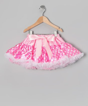 Pink Polka Dot Pettiskirt - Infant, Toddler & Girls