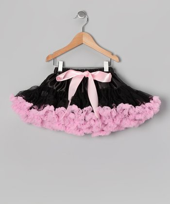 Black & Light Pink Pettiskirt - Toddler & Girls