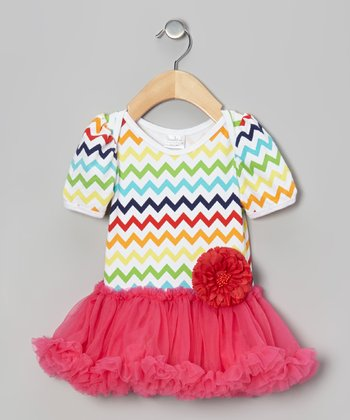 Rainbow Zigzag Skirted Bodysuit - Infant
