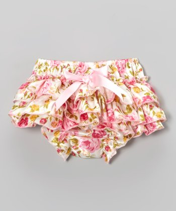 Pink & Yellow Floral Diaper Cover - Infant & Toddler