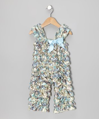 Light Blue Floral Ruffle Jumpsuit - Infant & Toddler