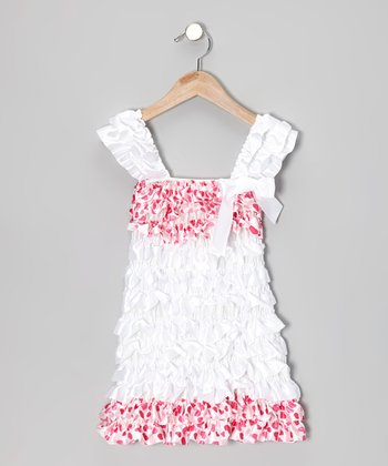Pink & White Polka Dot Ruffle Dress - Infant, Toddler & Girls