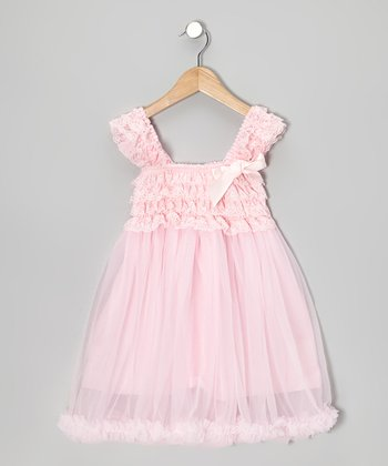 Pink Ruffle Babydoll Dress - Toddler & Girls