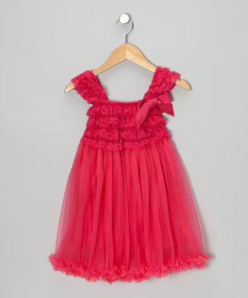 Hot Pink Ruffle Babydoll Dress - Toddler & Girls