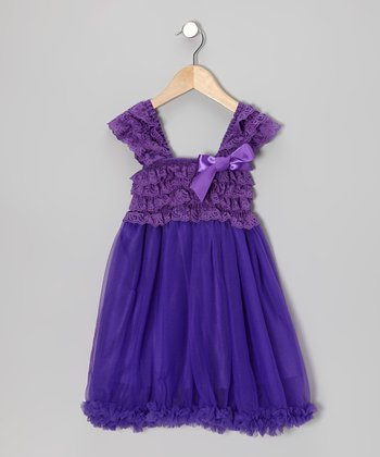 Purple Ruffle Babydoll Dress - Toddler & Girls