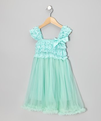 Pastel Green Ruffle Babydoll Dress - Toddler & Girls